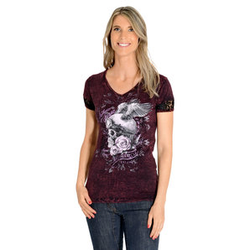Lethal Angel Ride My Own Damen T-Shirt rot S