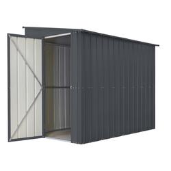 "Globel Industries Anlehn-Gerätehaus ""Lean-To 58"",anthrazit,3,75 m²"