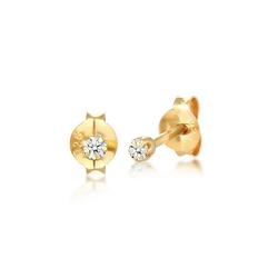 Diamore Paar Ohrstecker Stecker Diamant 0.06 ct. Solitär 925 Silber, Solitär-Ohrring