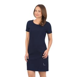 Trigema Halbarm Kleid mit Swarovski Kristallen blau Damen Minikleider Kleider