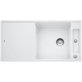 Blanco Axia III XL 6 S-F weiß + Excenterbetätigung + InFino + Glasscheidbrett