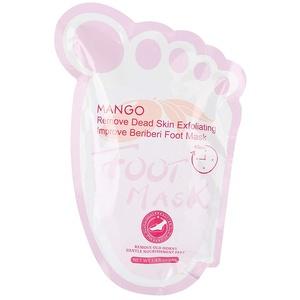 Fußmasken, 2 Stück/Beutel Mango-Fußschälmaske Abgestorbene Haut Nagelhaut entfernen Fußfeuchtiges Peeling