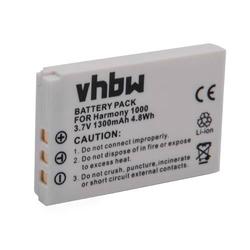 vhbw Li-Ion Akku 1300mAh (3.7V) passend für Fernbedienung Remote Control Logitech Harmony 1000 Remote, 1100 Remote, 1100i Remote, 915 Remote