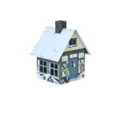 Crottendorfer Räucherhaus 2193, Winterfreude, Räucherhäuschen aus Metall für Standardräucherkerzen