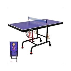 WIN.MAX Tischtennisplatte Tischtennisplatte Midsize mit Nets, Multifunktional Tischtennistisch mit Darts und Basketball Spiel, TT-Platte für Indoor