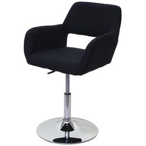 MCW Esszimmerstuhl MCW-A50 III-s, Retro Design, höhenverstellbar, um 360° drehbar, abgerundete Ecken und Kanten, gummierter Boden schwarz