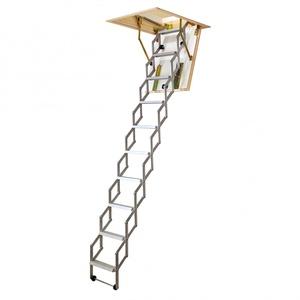 Dolle alu-fix Bodentreppe Scherentreppe bis 260cm Raumhöhe 80x70cm mit U-Wert 0,90