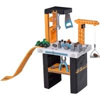 Homcom Kinderwerkzeugbank mit Kran schwarz/gelb