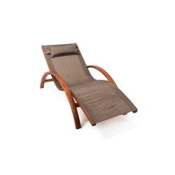 Ampel 24 Gartenliege Tropica (wetterfeste Relaxliege aus vorbehandeltem Holz)