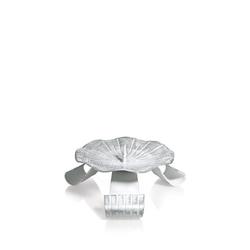 Hochzeitskerzenhalter Dreifuß Eisen weiß/silber gelackt mit Dorn Ø 10 cm für Hochzeitskerzen