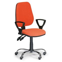 Bürostuhl, comfort mit armlehnen, orange