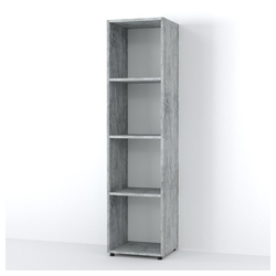 Vicco Raumteiler LUDUS 4 Fächer Grau Beton - Standregal Sideboard Bücherregal