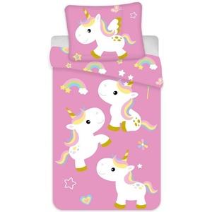 Babybettwäsche Einhorn - Baby-Bettwäsche-Set für Mädchen, 100x135 & 40x60 cm, Baby Best, 100% Baumwolle