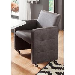 exxpo - sofa fashion Sessel, Breite 61 cm grau