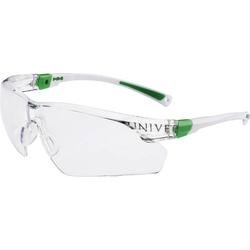 Univet 506UP 506U-03-00 Schutzbrille mit Antibeschlag-Schutz, inkl. UV-Schutz Weiß, Grün DIN EN 16