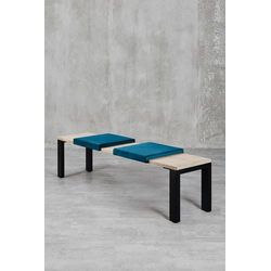 carla&marge Bankauflage Feels, Klemmkissen(2er Set),für eine Sitzbanktiefe von 37cm blau
