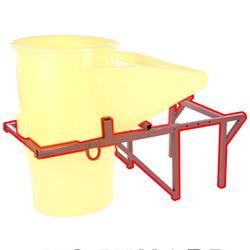 Schuttrutsche Trichter-Rahmen lackiert