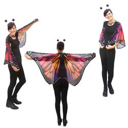 Schmetterlingsflügel Umhang Schmetterling Kostüm Karneval -lila orange