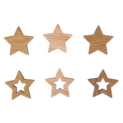 Rayher Holz-Streudeko Sterne 24 St.