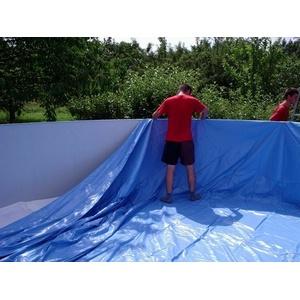 Poolfolie Rund 5,50 x 1,20 m blau Pool Ersatz Innenhülle für Stahlwandpool