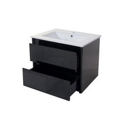 MCW Waschtisch MCW-B19, Soft-Close-System, Inkl. Aussparung für Siphon schwarz