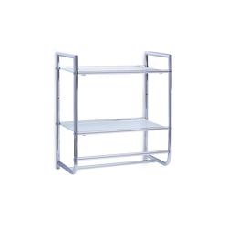 HTI-Living Badregal Wandregal mit Glaseinsätzen, Wandregal