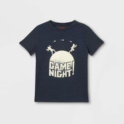 Boys' 'Game Night' Short Sleeve Graphic T-Shirt - Cat & Jack Navy S, Blue/Black