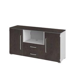Fernseher Sideboard in Braun Weiß 140 cm