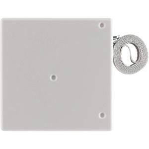 Schellenberg 50703 Aufschraubwickler System Mini für 14 mm Breite Rolladengurte, Lochabstand 9,5 cm, zur Montage in der Fensterlaibung, inkl 5m Gurtband in Grau