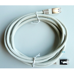 LAN-Kabel CAT5e 2m SF-UTP Patchkabel 2xRJ-45 grau