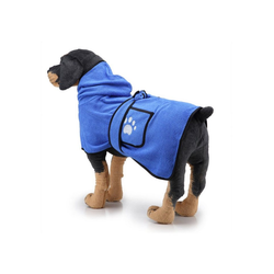 TOPMELON Hundebademantel, Hundebademantel,Bademantel Hund&Super Absorbierende blau L