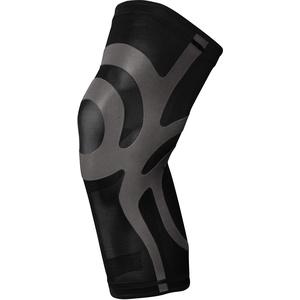 BODYVINE Unisex – Erwachsene Ultrathin Compression Plus Kompressions Knie Bandage mit Power-Band Stabilisator Tape, Schwarz, L