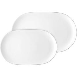 ARZBERG Servierplatte Servierplatten-Set 2-tlg. - Platten 32 cm und 36 cm - CUCINA Weiß
