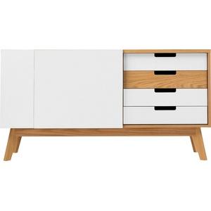 Woodman Sideboard Estera, Sideboard, Breite 135 cm weiß