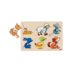 goki Steckpuzzle Hintergrundbildpuzzle Mutter und Kind, Puzzleteile