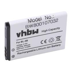 vhbw Li-Ion Akku 900mAh (3.7V) für Kamera Somikon Full HD Camcorder DV-812.HD wie PX-8268