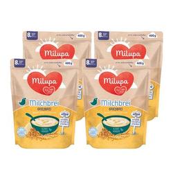 Milupa Milchbrei Grießbrei miluvit >>mit<< Kleine Genießer 4 x 400 g ab dem 8. Monat