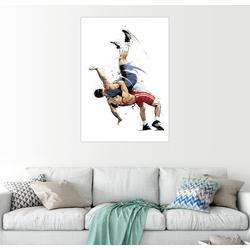 Posterlounge Wandbild, Wrestling 60 cm x 80 cm