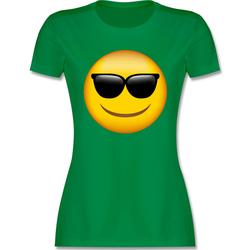 Shirtracer T-Shirt Emoticon Sonnenbrille - Comic Shirts - Damen Premium T-Shirt - T-Shirts sonnenbrille fasching L