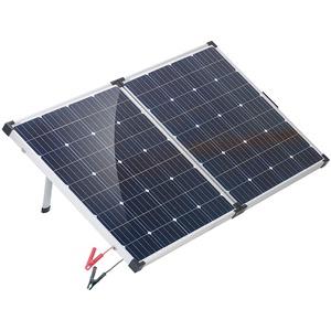 reVolt Photovoltaik: Faltbares mobiles Solar-Panel mit monokristallinen Zellen, 160 Watt (Solarpanele)