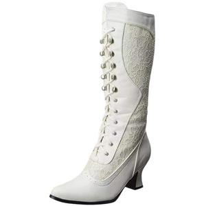 UFODB Damen Stiefel Steampunk Frauen Schuhe Winter Gothic Vintage Style Retro Punk Schnalle Langschaftstiefel Schneestiefel Klassische Lace Stiefeletten