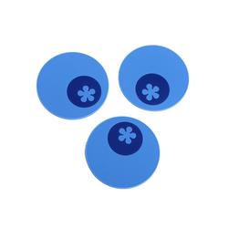 Kochblume Getränkeuntersetzer Multi-Untersetzer, Set, 3-tlg., Hitzebeständig bis 230° blau