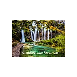 Herbstimpressionen Plitvicer SeenAT-Version (Wandkalender 2021 DIN A3 quer) - Kalender