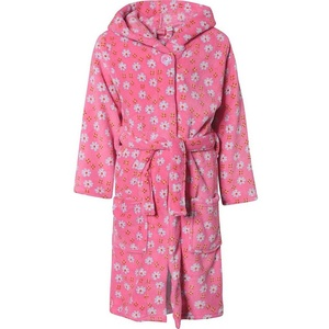 Bademantel Kinder Fleece Bademantel MARITIM, Playshoes rosa 86/92