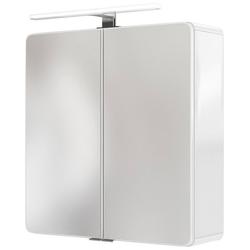 HELD MÖBEL Spiegelschrank Seattle Spiegelschrank 60 LED-Acryl-Aufbauleuchte weiß