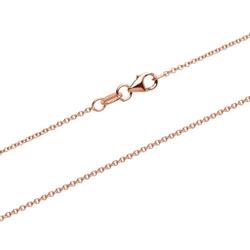 Roségoldene Ankerkette aus 375er Gold