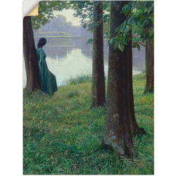 Artland Wandbild Morgen am Teich in Rastede. 1906, Frau (1 Stück) 90 cm x 120 cm