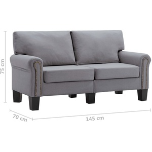 2 Sitzer Sofa Stoff Couch Chesterfield Schlafsessel Sessel Relaxstuhl Wohnzimmer