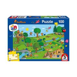 Schmidt Spiele Puzzle Puzzle Die Maus Im Spielpark, 100 Teile, Puzzleteile