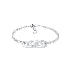 Elli Elli Armband Infinity Liebe Kristalle 925 Silber